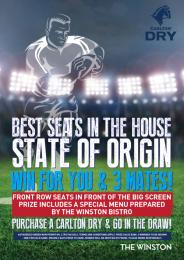 STATE OF ORIGIN - BEST SEATS IN THE HOUSE.