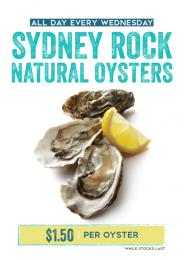OYSTERS EVERY WEDNESDAY