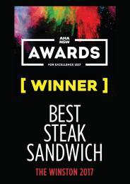 WINNER - BEST STEAK SANDWICH!!!!